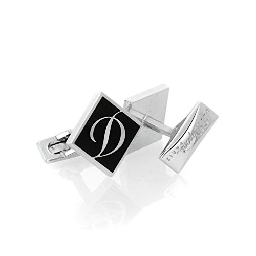S.T. Dupont Label Collection Palladium Finish Cufflinks - 005366