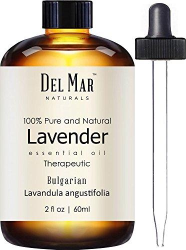 Del Mar Naturals Bulgarian Lavender Oil; 100% Pure and Natural, Therapeutic Grade Lavender Essential Oil, 2 fl oz
