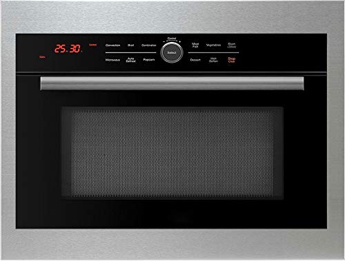 5 in 1 Oven Black Friday Sale! Save $50, 24″ Built In Convection Microwave with Drop Down Door, Bake, Brown, Roast, Grill, Toast & Microwave. Oven Includes Trim Kit (Stainless Steel Trim Kit)