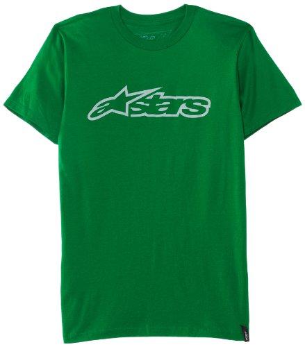 Alpinestars Men's Blaze Classic Short-Sleeve Shirt, Kelly Green/Gray, Medium