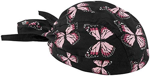 ZANheadgear Flydanna 100 Percentage Cotton Butterflies Bandanna (Pink) by - Flydanna Tie Cotton