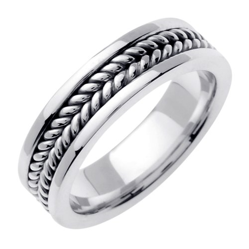 Sterling Silver Hand Braided Wedding Ring Band for Men (Sizes 9 - (Hand Braided Wedding Band)