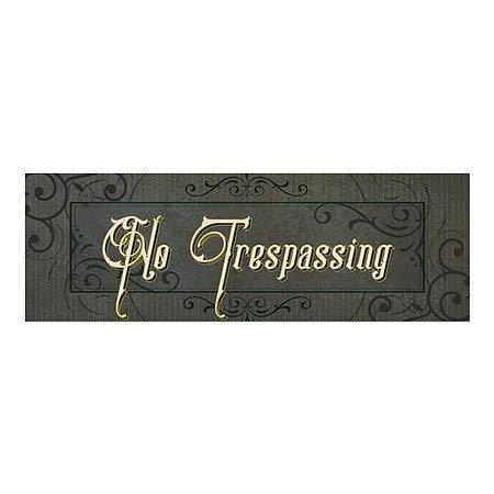 CGSignLab No Trespassing Victorian Frame Window Cling 36x12 5-Pack