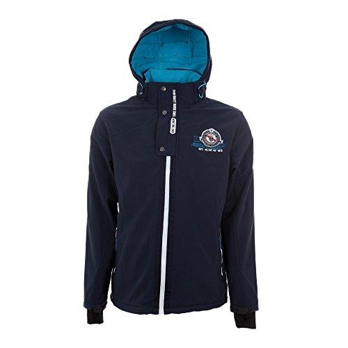 Peak Mountain - chaqueta softshell chico 10/16 años ECETOM-marina-10 años: Amazon.es: Deportes y aire libre
