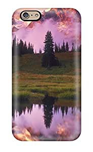 Evelyn C. Wingfield's Shop Hot Defender Case For Iphone 6, Pink Mountain Ranges Pattern