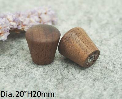 Kasuki 4Pcs/Lot Premintehdw Solid Wood Black Walnut Kitchen Cupboard Furniture Cabinet Drawer Handle Pull Knob Unpainted - (Color: 4) (Best Wood For Cupboards)