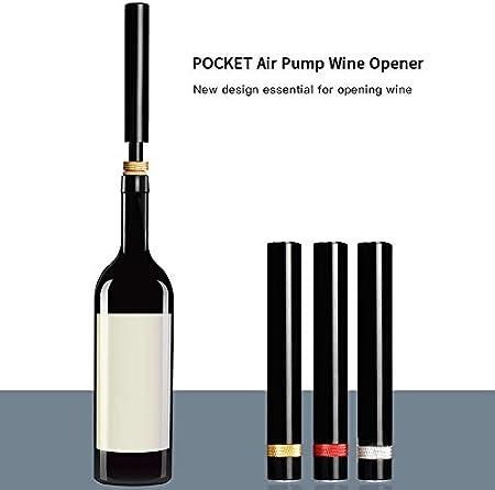 Bomba de aire Abridor de botellas de vino Bombas de aire portátiles de acero inoxidable Abridores de botellas de vino Herramientas de sacacorchos Barra de tapón de vino al vacío Herramienta-A
