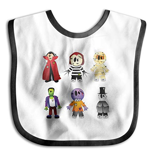 (Halloween Costume New York's Village Halloween Parade Clip Art - Halloween Transparent Creepy Collection Cotton Baby Bibs Infant Toddler Soft Drool Bib for Feeding)