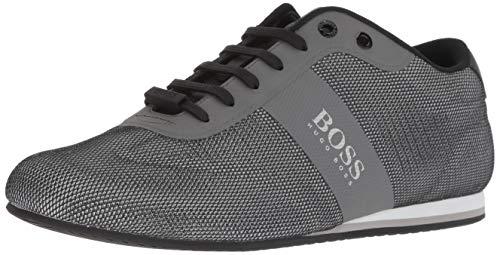 Hugo Boss BOSS Green Men's Lighter Low Mesh Sneaker, Medium Grey, 45 M EU (12 US)