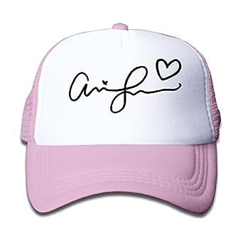 Amazon.com: Macthy Ariana Grande Signature Logo Boy's Mesh Snapback