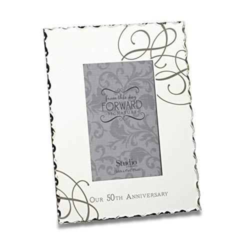 DEMDACO Our 50th Anniversary 8 x 9 Mirrored Glass Picture Frame