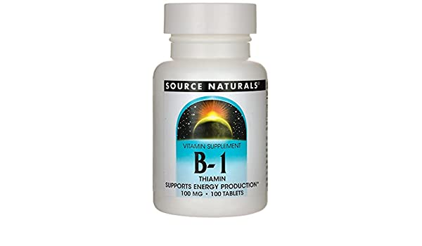 SOURCE NATURALS, Vitamin B-1 100 mg - 100 tabs: Amazon.es: Salud y ...