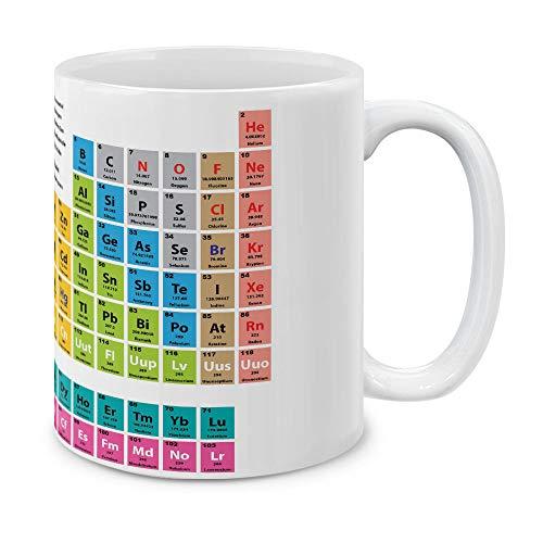 MUGBREW Periodic Table of Elements White Ceramic Coffee Gift Mug Tea Cup, 11 ()