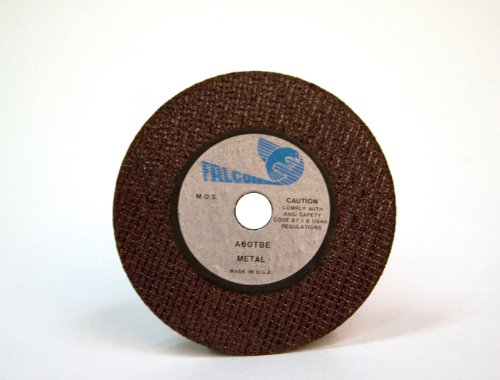 Falcon A60TBE Premium Grade Resinoid Bonded Double Reinforced Abrasive Cut-off Wheel, Type 1, Aluminum Oxide, 3/8