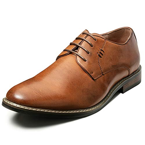 Mens Classic Dress Shoes Leather Lined Formal Oxfords (8.5 M US, Tan10)
