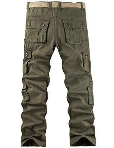 Pantalon Cargo Homme Pantalon de Travail Randonnée Sport Pantalon Militaire