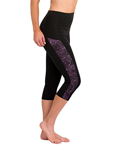 Delfin Spa Women's Heat Maximizing Neoprene Exercise and Anti Cellulite Capris - Regular & Plus Sizes