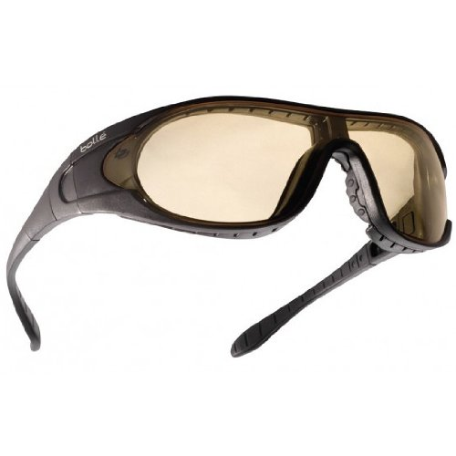 Bolle Raider Ballistic Spectacles - Clear, Smoke, Yellow Lens Black Frame by Bolle Safety (Image #2)