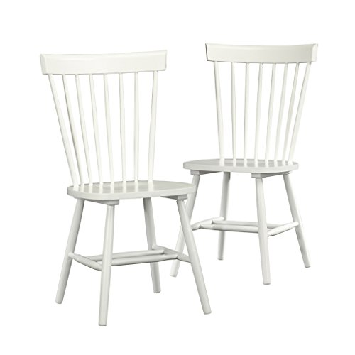 Sauder 416568 White Finish Cottage Road Spindle Back Chair (2 Pack) by Sauder