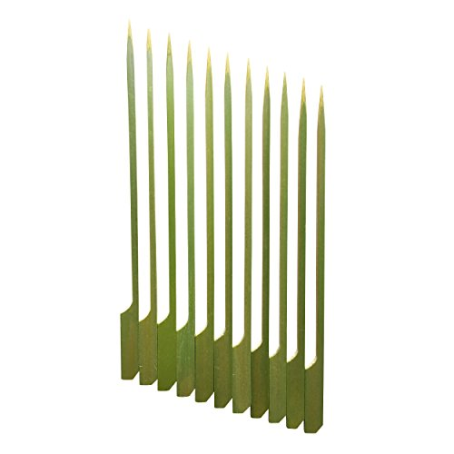 Bamboo Picks, Skewers for Chocolate Fountain/Fondue, Kabobs, BBQ, Cocktails, Appetizers, Desserts, Etc. - 7 Inch, Set of 100