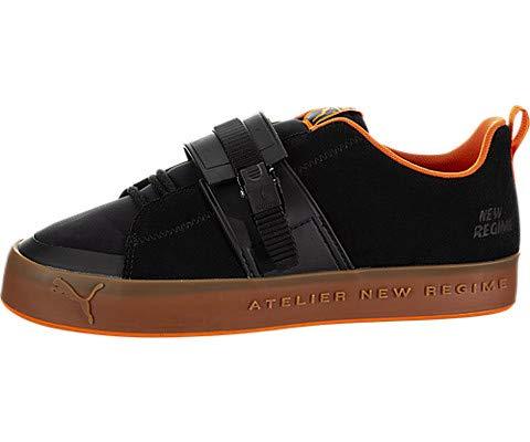 NR Atelier New Regime Court Platform Brace Sneaker Puma Black/Scarlet Ibis 10.5 Women / 9 Men M US Medium ()