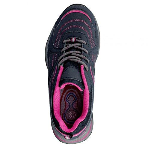4 a walk Damen Freizeitschuh mit Multifunktionssohle schwarz/pink Schwarz / Pink