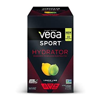 New Vega Sport Hydrator Lemon Lime (30 Count, 0.1 oz) - Electrolyte Powder