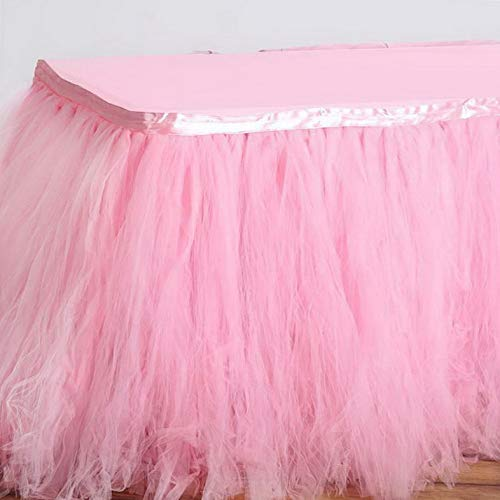 Mikash 17 feet x 29 Multi Layers Tulle Table Skirt Party Wedding Booth Decorations | Model WDDNGDCRTN - 19281 |