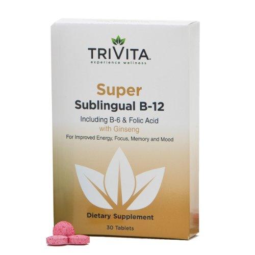 Super B-12 Dissoudre lente Comprimés Comprend B-6 et l'acide folique. , Brevetées, Made in the USA améliore la concentration. Énergie, mémoire et l'humeur. La formule unique de Dr Libby fournit plus de la «B» que vous achetez. 3000mcg B-12. 100% Garantie