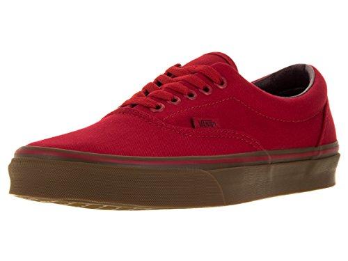 Vans Unisex Shoes Era Canvas Racing Red/Gum Sneakers (7 Mens / 8.5 Womens)