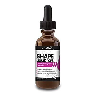 Vitamiss Shape Liquidrops– All Natural Sublingual Diet Drops for Women - Appetite Suppression, Burning Fat, Weight Loss, and Metabolism Support!