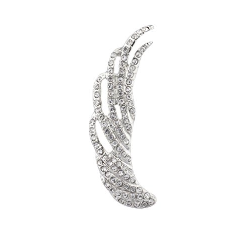 Lux Accessories Pave Wing Ear Cuff Crystal