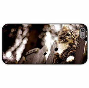 iPhone 5 5S Black Hardshell Case fence flashing climbing Desin Images Protector Back Cover