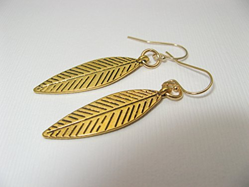 Mixed Metal Ring (Golden Mixed Metals Dangling Feather Earrings Gold Filled Earring Wires)