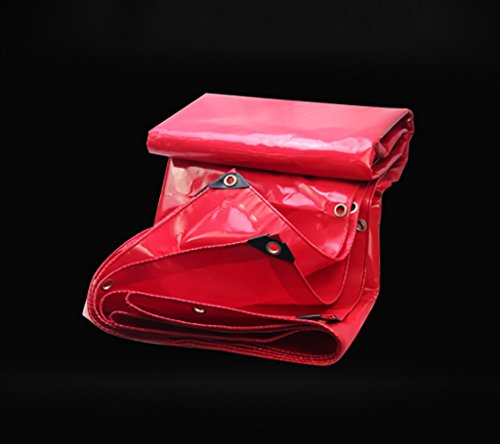代理人帳面ピンテント ターポリン高強度厚い塩ビ防水トラックコンパートメント貨物ヤードヤードテント布屋外0.45ミリメートル0.56キロ/メートル赤3サイズ