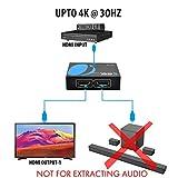 4K 1x2 HDMI Splitter by OREI - 1 Port to 2 HDMI