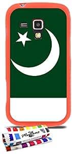 Carcasa Flexible Ultra-Slim SAMSUNG GALAXY TREND de exclusivo motivo [Bandera Pakistán] [Naranja] de MUZZANO  + ESTILETE y PAÑO MUZZANO REGALADOS - La Protección Antigolpes ULTIMA, ELEGANTE Y DURADERA para su SAMSUNG GALAXY TREND
