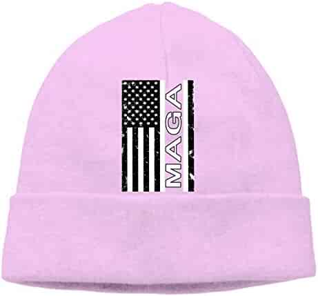 Vintage American Flag MAGA Beanie Hat Hipster Toboggan Hat Winter Hats Knit  Hat Beanies for Men 76883e6f655d