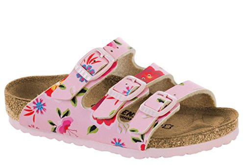 Birkenstock Kid's Florida Flowers Pink Birko-Flor Sandals 34 M EU / 3-3.5 US Little -