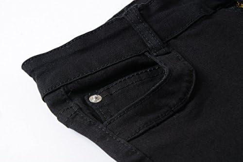 IA ROD CA Boys Black Stretch Destroyed Ripped Distressed Fashion Skinny Slim Fit Jeans