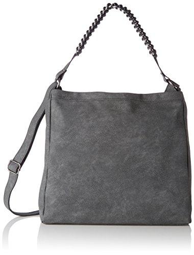 s.Oliver (Bags) 39.708.94.6016, Shoppers y bolsos de hombro Mujer, Grau (Gun Grey), 8x33x33,50 cm (B x H T)