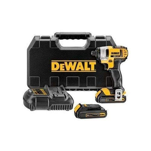 Factory-Reconditioned Dewalt DCF885C2R 20V MAX Cordless Lithium-Ion 1/4 in. Impact Driver Kit