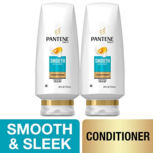 - Pantene, Sulfate Free Conditioner, with Argan Oil, Pro-V Smooth and Sleek Frizz Control, 24 fl oz, Twin Pack