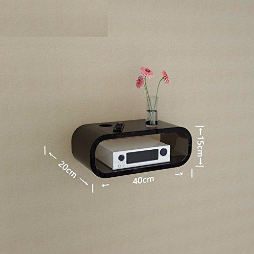 The set-top box rack wall mount TV cabinet router admit cartridge holder Wall Shelf living room set-top box hangers, (Mensola Wall)