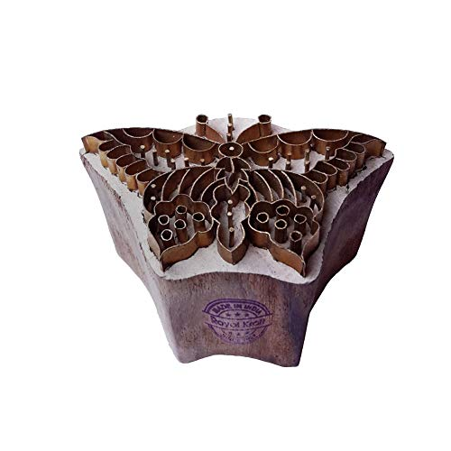 Traditional Print Stamp Brass Butterfly Shapes Wooden Clay - Block Butterfly Print