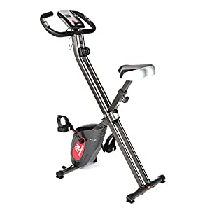 ADVENOR Exercise Bike Magnetic Bike Folding Fitness Bike Cycle Workout Home Gym With LCD Monitor Durable Upright Extra-Large Seat Cushion
