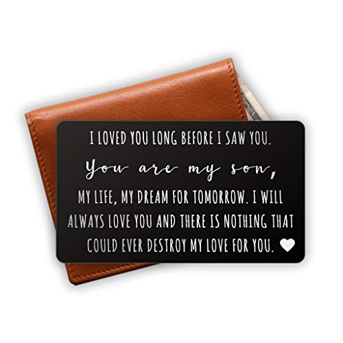 Love Note Wallet Insert - Son Gift Idea