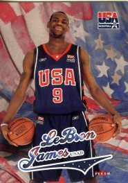 ympics Lebron James Rookie in Mint Condition ! NBA and Olympic World Champion! Cleveland Cavaliers! Shipped in Ultra Pro Top Loader to Protect it! ()
