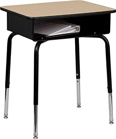 desk height open oak cbs com adjustable student laminate medium top virco quill black front