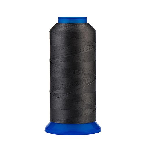 Selric [1500Yards / 130g / 30 Colors Available] UV Resistant High Strength Polyester Thread #69 T70 Size 210D/3 for Upholstery, Outdoor Market, Drapery, Beading, Purses, Leather - Grey Upholstery